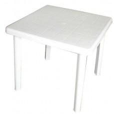 Стол пластиковый квадратный Романтик белый