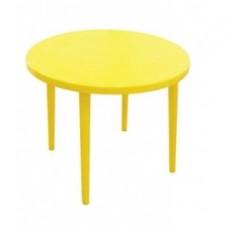 Стол пластиковый круглый Романтик желтый