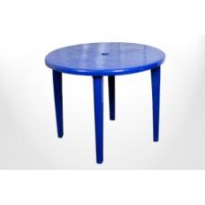 Стол пластиковый круглый Романтик синий