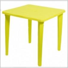 Стол пластиковый квадратный Романтик желтый