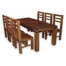 Деревянная обеденная группа Гофрид
