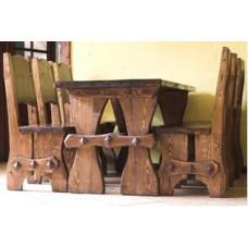 Деревянная обеденная группа Гюнтер