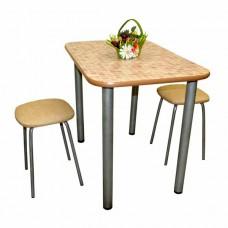 Стол обеденный 90х60 см врезной кант