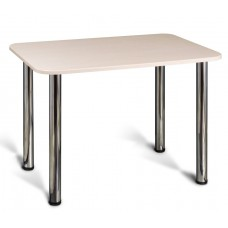 Стол 1100х700, 22мм подстолье 4 ноги хром столешница пластик