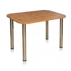 Стол 1100х700, 32мм подстолье 4 ноги хром столешница пластик