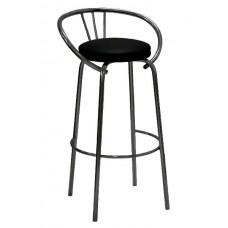Стул барный Блюз бордовое сиденье экокожа каркас полимер
