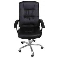 Кресло офисное НО-9901 черный кожзам