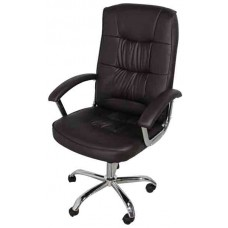 Кресло офисное НО-9901 коричневый кожзам