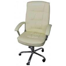 Кресло офисное НО-9901 кремовый кожзам