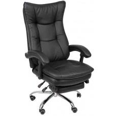 Кресло офисное КР-008 черный кожзам