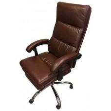 Кресло офисное КР-015 коричнеый кожзам