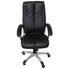 Кресло офисное ОС-492 черный кожзам