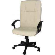 Кресло офисное Y-2038 кремовый кожзам