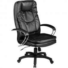 Кресло офисное Люкс 11-П натуральная кожа пластиковое пятилучие