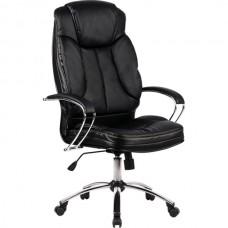Кресло офисное Люкс 12-П натуральная кожа хромированное пятилучье