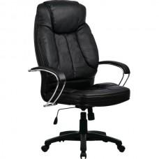 Кресло офисное Люкс 12-П натуральная кожа пластиковое пятилучие