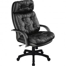 Кресло офисное Люкс 14-П натуральная кожа пластиковое пятилучие