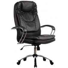 Кресло офисное LK-11 перфорированная эко-кожа пятилучье хром