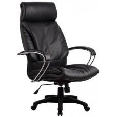 Кресло офисное Люкс-13 натуральная экокожа пятилучье пластик