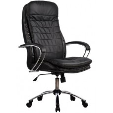 Кресло офисное LK-3 кожа пятилучье хром