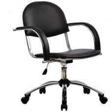 Кресло офисное Бэйсик экокожа пятилучие хром