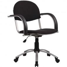 Кресло офисное Бэйсик ткань пятилучие матовый хром