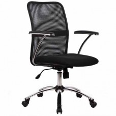 Кресло офисное Форум ткань-сетка пятилучие хром
