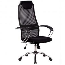 Кресло офисное Галакси Лайт ткань-сетка хромированное пятилучие