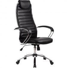 Кресло офисное Галакси Ultra натуральная кожа пятилучие хром