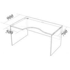 Стол криволинейный СК140 Континент-Про 140х90х75 см