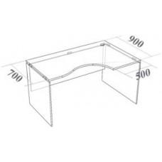 Стол криволинейный СК160 Континент-Про 160х90х75 см