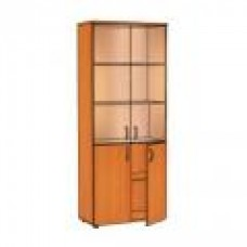 Шкаф со стеклом ЛФ217 Практик 80х40х200 см