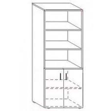 Шкаф полузакрытый Партнер 80х40х200 см