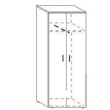 Шкаф для одежды Партнер 80х40х200 см