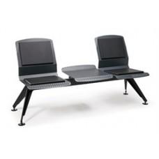 Аэро Многоместная секция (2-х местная) / Без подлокотников - С металлическим кофейным столиком