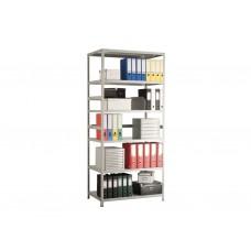 Стеллаж архивный металлический MS Standart 100*30*200 в комплекте 6 полок