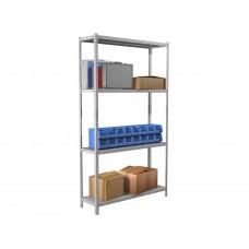 Стеллаж архивный металлический MS Standart 100*30*200 в комплекте 4 полки
