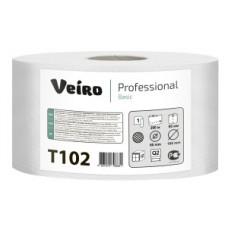 Туалетная бумага Джамбо 1 слой белая 200 м