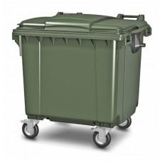 Мусорный контейнер МКА-1100 литров цвет зеленый