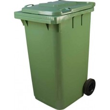 Мусорный контейнер МКА-240 литров цвет зеленый